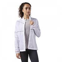 Спортивная куртка белого цвета Reebok для девушки Hero Reflective Running CD5465 - 2018