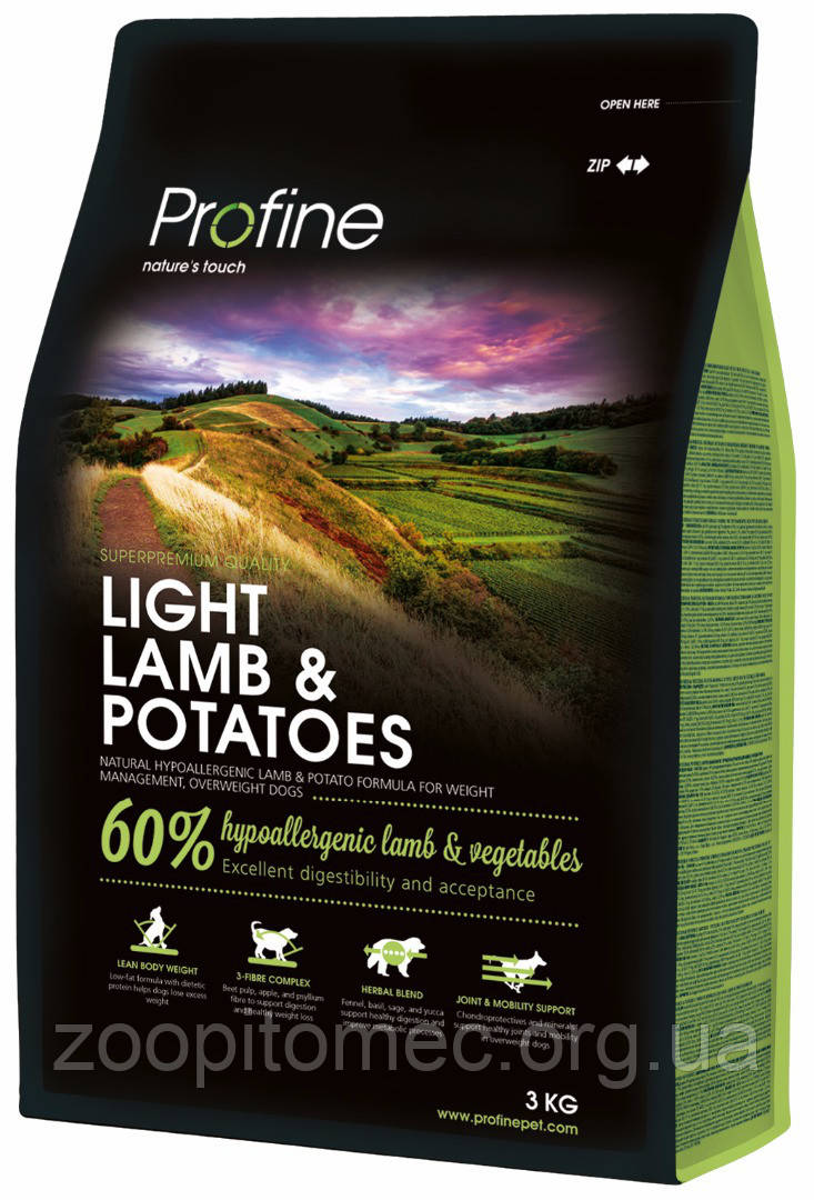 Profine (Профайн) Light Lamb Корм для собак с лишним весом с ягненком, 3 кг