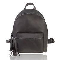 Рюкзак кожаный черный винтажный М, фото 1