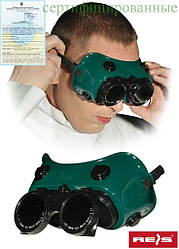 Зварювальні окуляри закритого типу з непрямою вентиляцією REIS Польща GOG-CIRCLE ZB