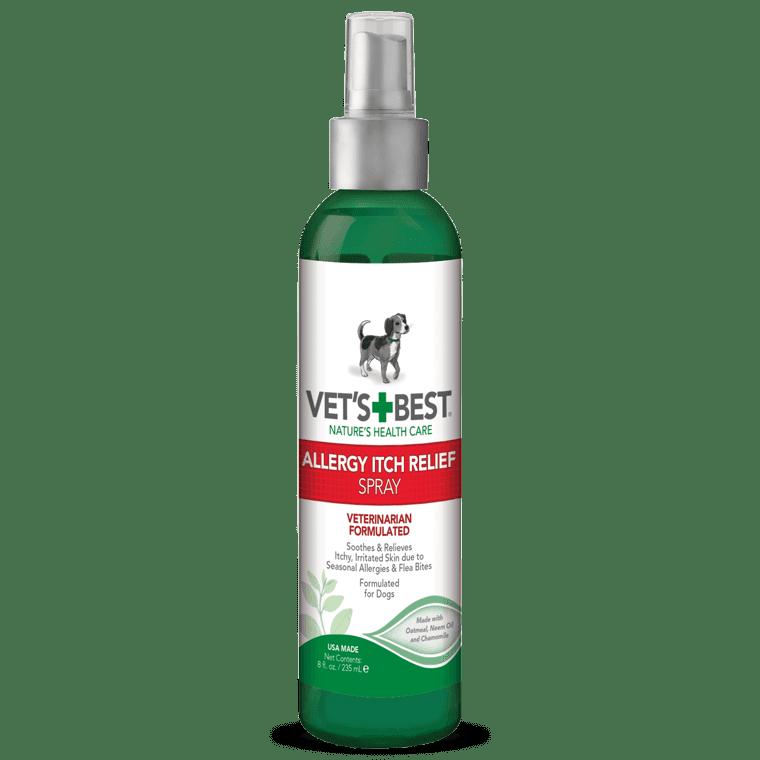 VET'S BEST Allergy Itch Relief Spray, 236 мл -спрей для собак при аллергии, для чувствительной кожи, от зуда