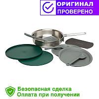 Набор Stanley Adventure Fry pan (сковорода с крышкой(0,95 л) + 2 тарелки + 2 ложки-вилки) 10-02658-002