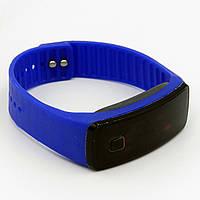 Часы LED Watch Soft Braslet B-02 силиконовый ремешок, Синие