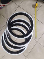 Фліппера на колеса, вайтволлы, вайтбенды, колорбенды, R13 чорно-білі Туреччина, фото 1
