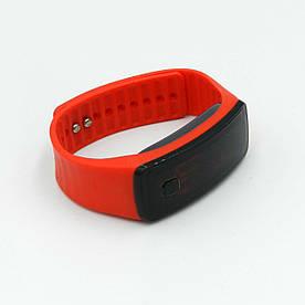 Часы LED Watch Soft Braslet B-02 силиконовый ремешок, Красные