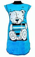 Туника домашняя женская хлопковая трикотажная одежда для дома