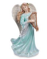 Фарфоровая музыкальная статуэтка Ангел с арфой (Pavone) CMS - 24/ 5. Пасхальные сувениры