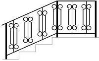 Поручни для лестниц металлические с ковкой на заказ   Поручни из метала для монтажа на лестницу