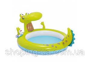 Детский надувной бассейн «Крокодил» с фонтаном Intex 57431, фото 3