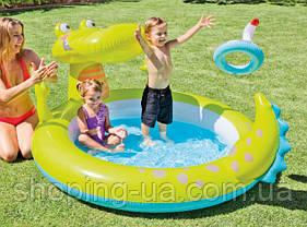 Детский надувной бассейн «Крокодил» с фонтаном Intex 57431, фото 2