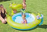 Детский надувной бассейн «Крокодил» с фонтаном Intex 57431