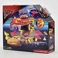"""Игровой набор гараж HT 631 Q """"Тачки"""", 2 машинки, лифт, в коробке"""