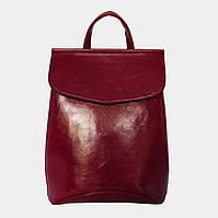 Сумка-рюкзак жіноча бордова (масло) / Сумка-рюкзак женская бордовая (масло)