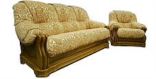 """Класичний комплект: диван з кріслом """"Барон 4090"""" (3н + 1), фото 3"""