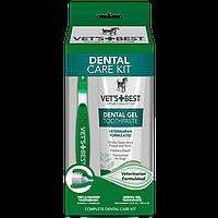 VET'S BEST Dental Care Kit, 103 мл -набор для ухода за ротовой полостью (гель для чистки зубов + зубная щётка)