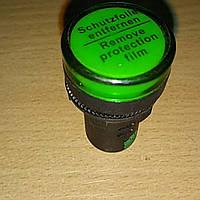 Вольтметр - индикатор AD22V LED матрица 22mm зеленый 12В - 500В АС