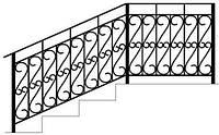 Изготовление металлических поручней для лестниц с ковкой на заказ   Цена от производителя перил из метала