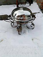 Подставка для шашлыка САДЖ mega 45 см с крышкой
