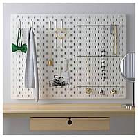 IKEA SKADIS Перфорированная доска, белый  (492.166.97)