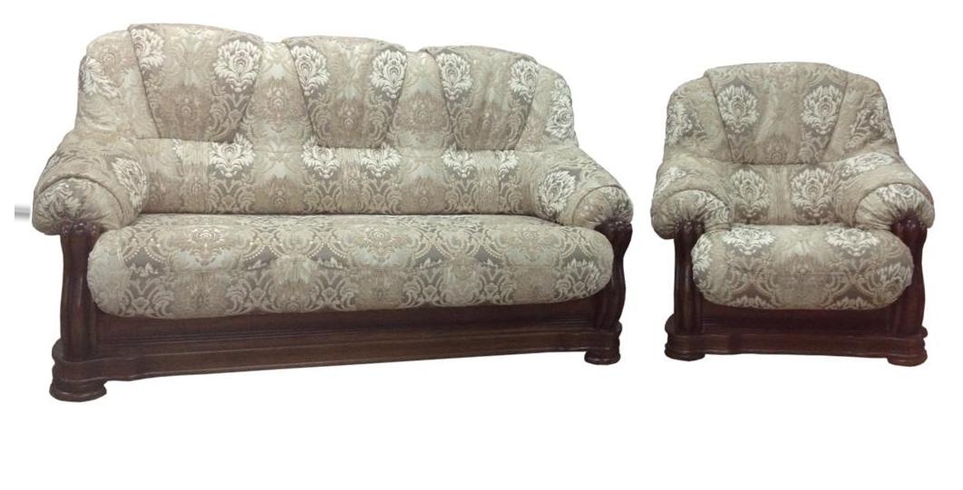 """Класичний комплект: диван з кріслом """"Барон 4090"""" (3н + 1)"""
