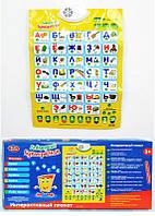"Плакат-Азбука 7002 ""Букварёнок"", русский алфавит, музыкальный, в коробке"