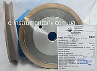 Алмазный круг (14F6V)R5,5 150х18х12хR5,5х22 для обработки стекла АС32 связка М-300