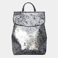 Сумка-рюкзак жіноча срібляста (масло) / Сумка-рюкзак женская серебристая (масло)
