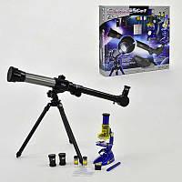 Детские телескоп и микроскоп С 2112, в коробке