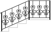 Перила для наружных лестниц с кованными элементами | Цена от производителя перил из метала