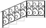 Перила для наружных лестниц с кованными элементами, фото 4