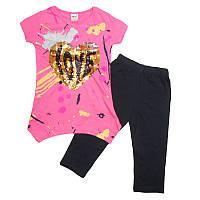 Костюм для девочки  6-9лет арт.74389 футболка+леггинсы