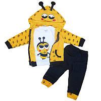 Костюм для мальчика 68-74  2 кофты+штаны , арт.3755