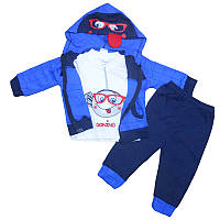 Костюм для мальчика 68-74 кофта на молнии +штаны, арт.12243