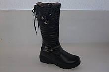 Зимові чобітки на дівчинку чорні GFB 36 р.