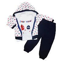 Костюм для мальчика  80-98  2кофты+штаны, арт.9024