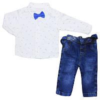 Костюм для мальчика 68-80 рубашка+джинсы , арт.2663