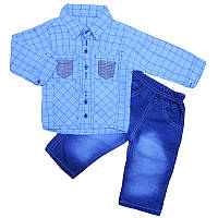 Костюм для мальчика 80-98 рубашка+ штаны , арт.749