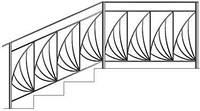Перила для лестниц с красивыми кованными элементами из метала | Цена от производителя лестничных перил