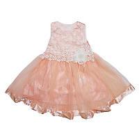 Платье для девочки атлас+фатин  4-6 года , арт.724
