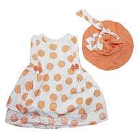 Платье для девочки х/б  2-5 лет арт.2600 + шляпка