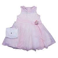 Платье для девочки  хб + фатин 5-8лет , арт.1239