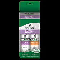 VET'S BEST Ear Relief Wash & Dry Combo Kit, 2х118 мл - набор для чистки ушей собак