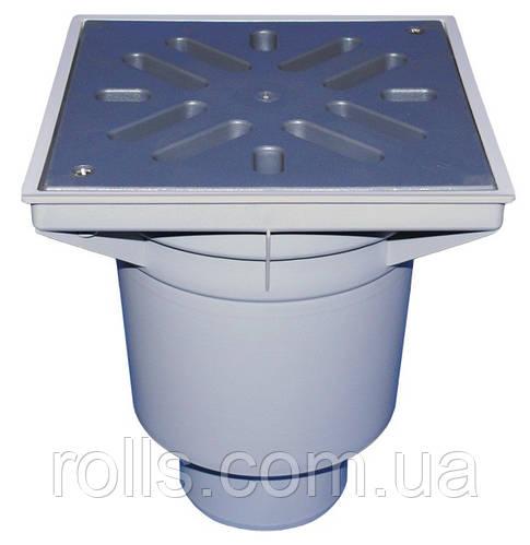 HL606L/1 Дворовый трап серии Perfekt DN110 верт. с морозоустойчивым запахозапирающим затвором..