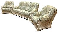 """Классический комплект"""" Граф 4090"""": диван с двумя креслами (3+1+1)"""
