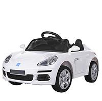 Детский электромобиль M 3446 EBLR-1 Porsche, кожаное сиденье, белый ***