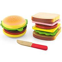 Игровой набор Viga Toys Гамбургер и сэндвич (50810)