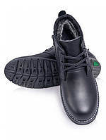 Мужские кожаные ботинки зима. Арт-6239-28.