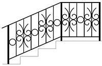 Перила для уличных лестниц бетонных с из метала купить в Киеве | Цена от производителя лестничных перил