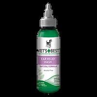 VET'S BEST Ear Relief Wash, 118 мл - жидкий очиститель для ушей собак