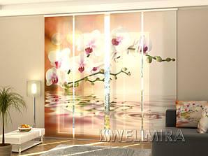 """Панельные Фото шторы """"Идеальная орхидея"""" 240 х 240 см"""